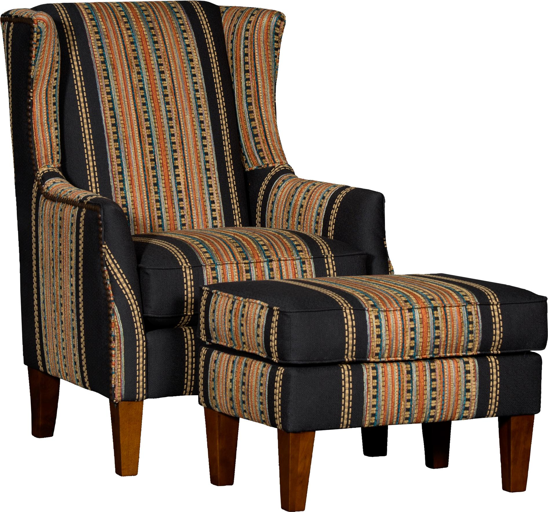 8840 Chair & Ottoman Set by Mayo at Pedigo Furniture