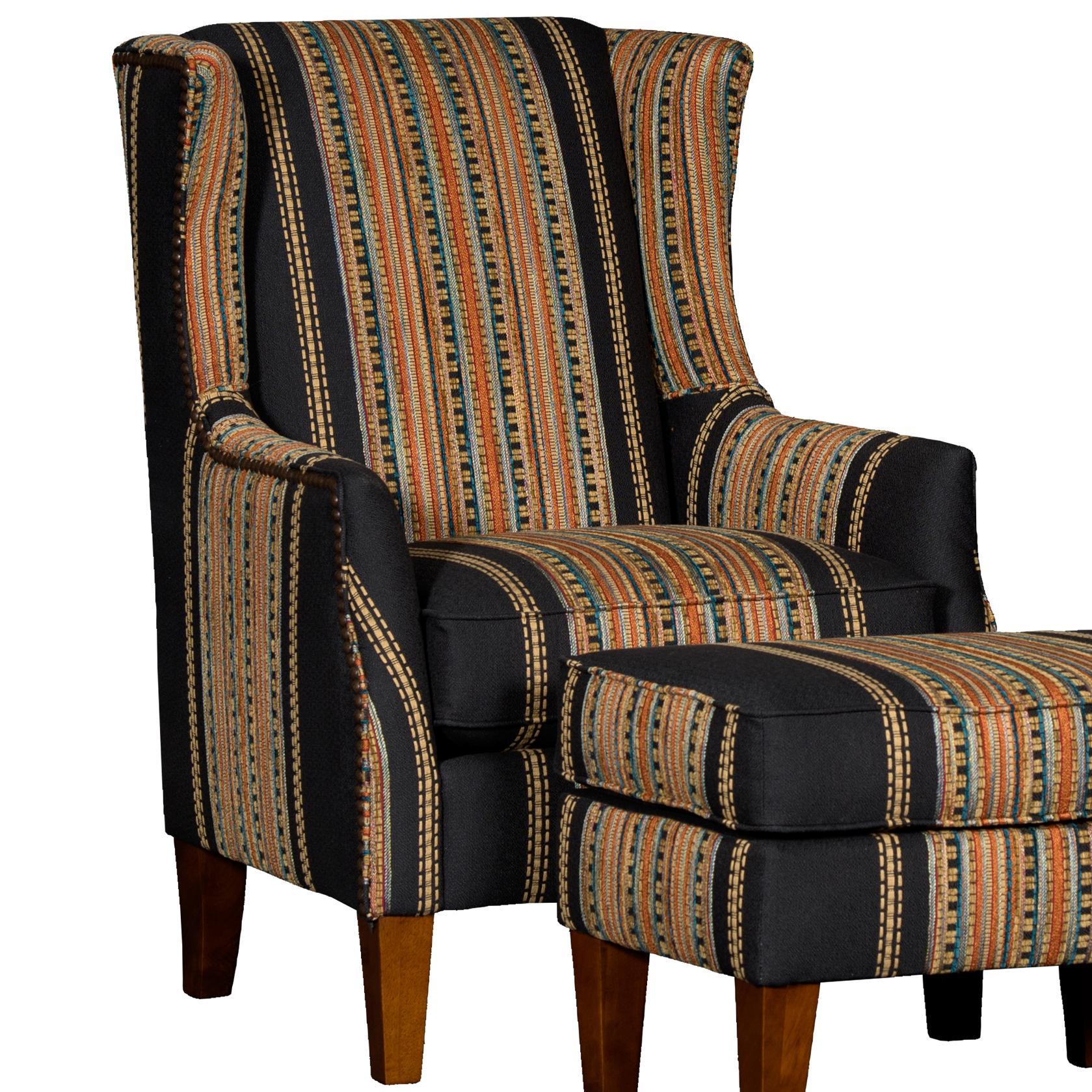 8840 Wing Chair by Mayo at Pedigo Furniture