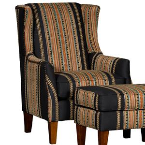 Upholstered Wing Chair w/ Tapered Legs