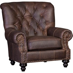 Traditional Upholstered Chair with Tufted Back