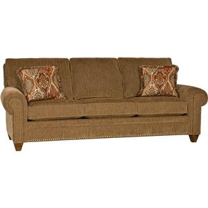 Traditional Stationary Sofa with Tapered Legs