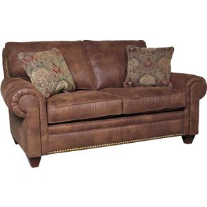 Upholstered Loveseat with Tapered Legs