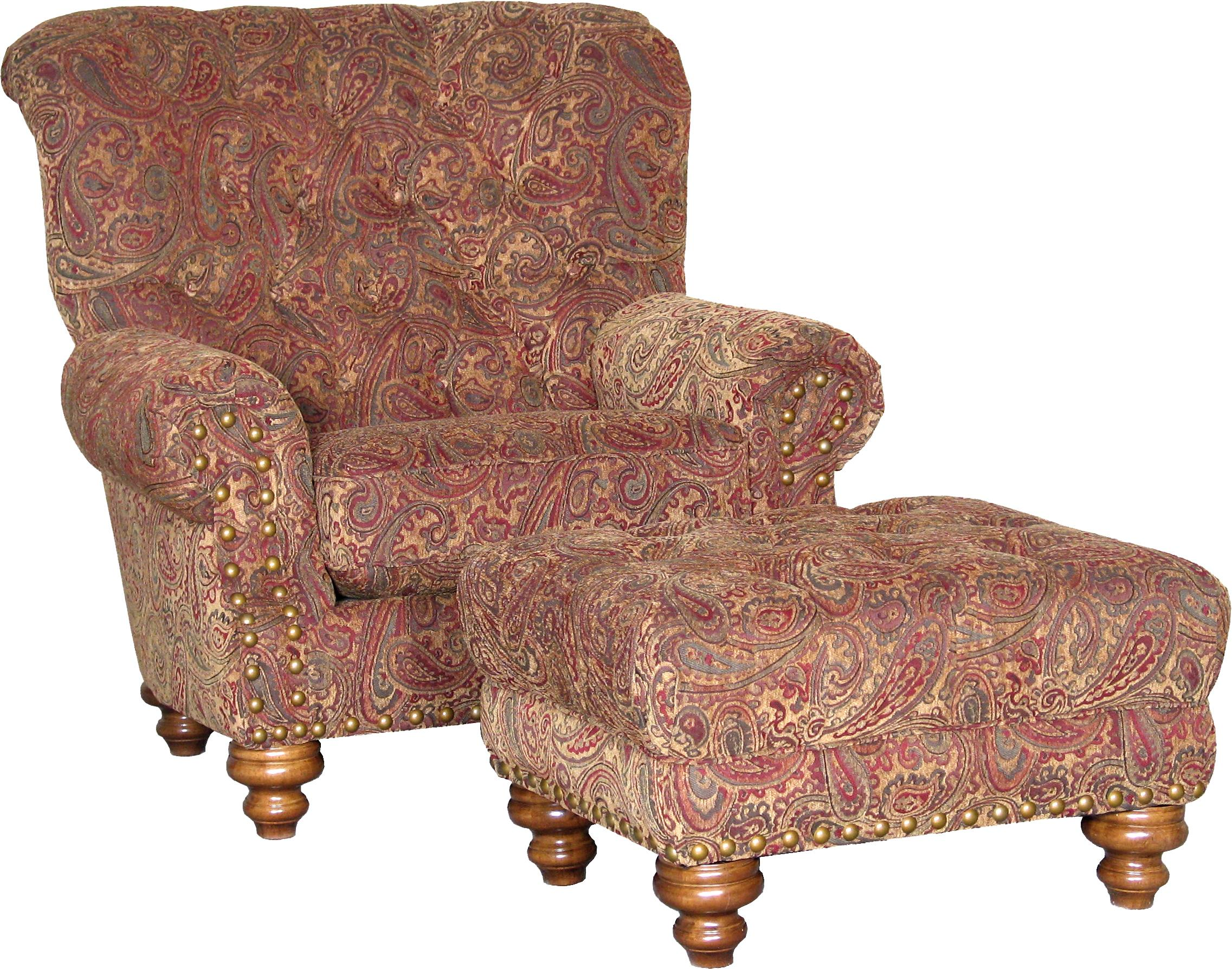 9310 Chair and Ottoman by Mayo at Miller Waldrop Furniture and Decor