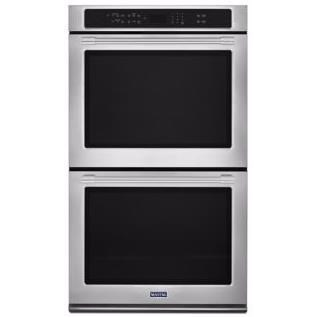 """Built-In Electric Double Oven 27"""" Wide Double Wall Oven - 8.6 Cu. Ft. by Maytag at Westrich Furniture & Appliances"""