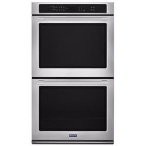 "Maytag Built-In Electric Double Oven 27"" Wide Double Wall Oven - 8.6 Cu. Ft."