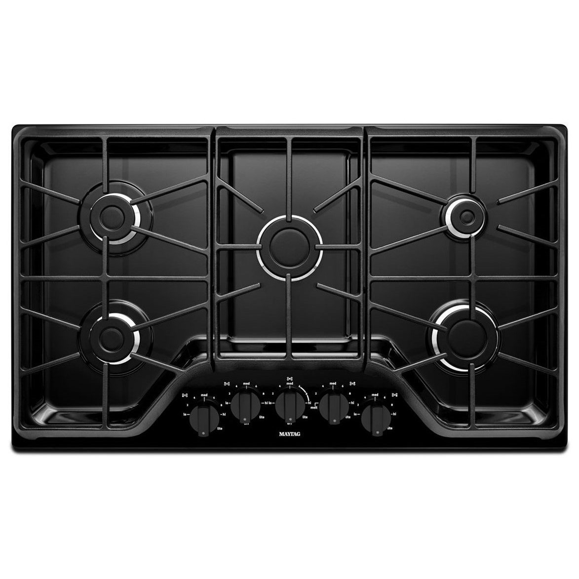 Gas Cooktops 36-inch 5-burner Gas Cooktop by Maytag at Furniture and ApplianceMart