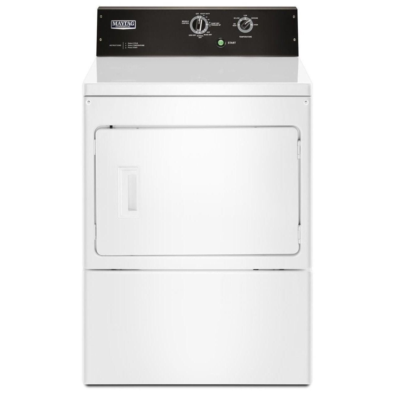 Front Load Gas Dryer 7.4 cu. ft. Commercial-Grade Dryer by Maytag at Furniture and ApplianceMart
