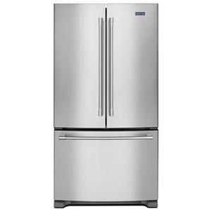 """Maytag Maytag French Door Refrigerators 36"""" 25 Cu. Ft. French Door Refrigerator"""