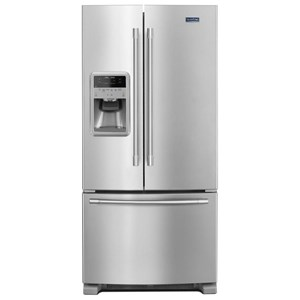 """Maytag Maytag French Door Refrigerators 33"""" 22 Cu. Ft. French Door Refrigerator"""