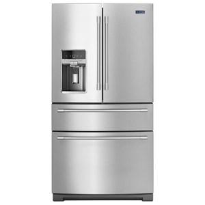 """Maytag Maytag French Door Refrigerators 36"""" 26 Cu Ft 4-Door French Door Refrigerator"""