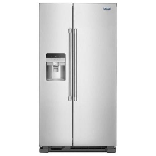 "Side-By-Side Refrigerators - Maytag 25 Cu. Ft. 36"" Side-by-Side Refrigerator by Maytag at Furniture and ApplianceMart"