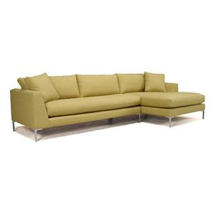 McCreary Modern 0351 Sectional Sofa with Metal Legs