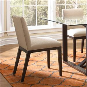 Upholstered Dining Side Chair with Wood Legs