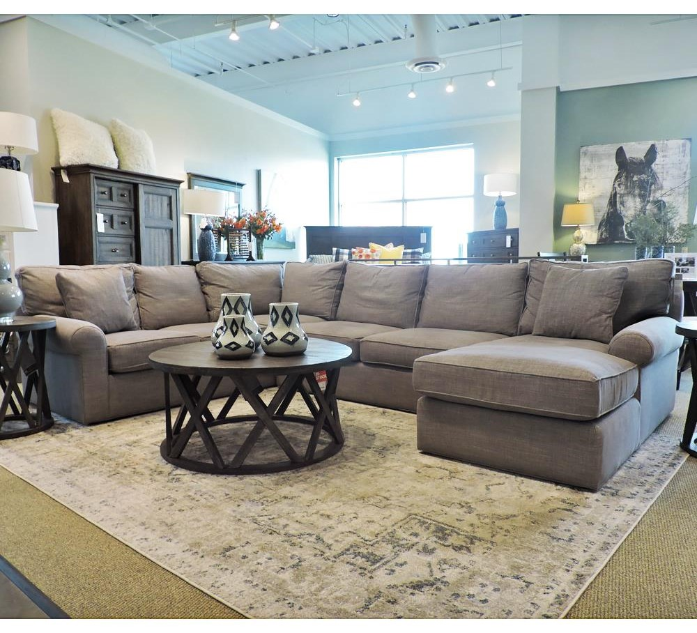 Harris Sectional Sofa with Right-Arm-Facing Chaise by BeModern at Belfort Furniture
