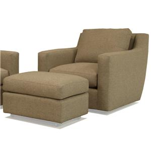 McCreary Modern 1191 Swivel Chair and Ottoman