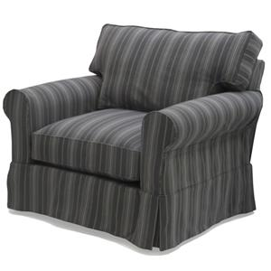 Mccreary Modern 1252 Slipcover Sofa With Rolled Arms And