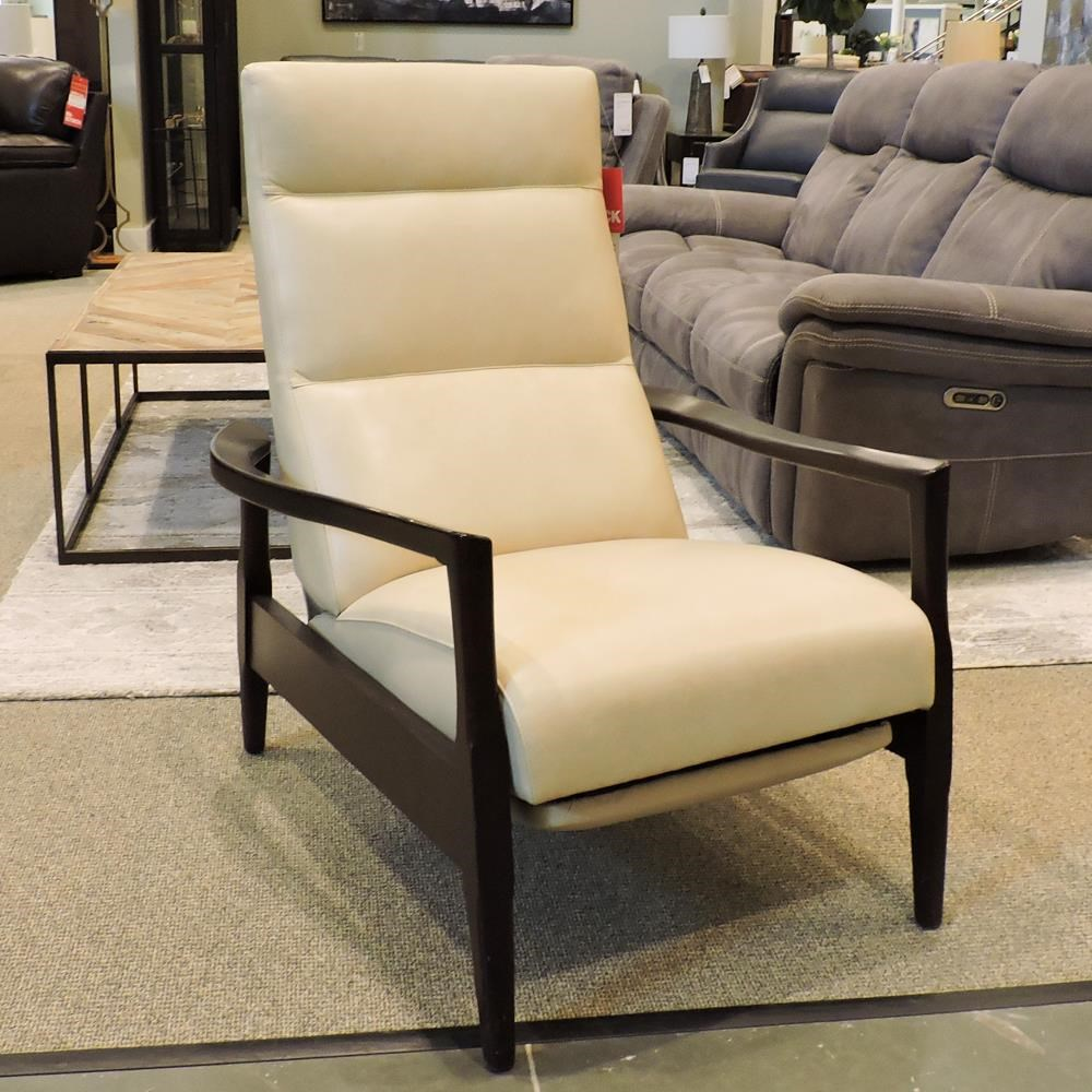 Avery Recliner with Wood Legs by BeModern at Belfort Furniture