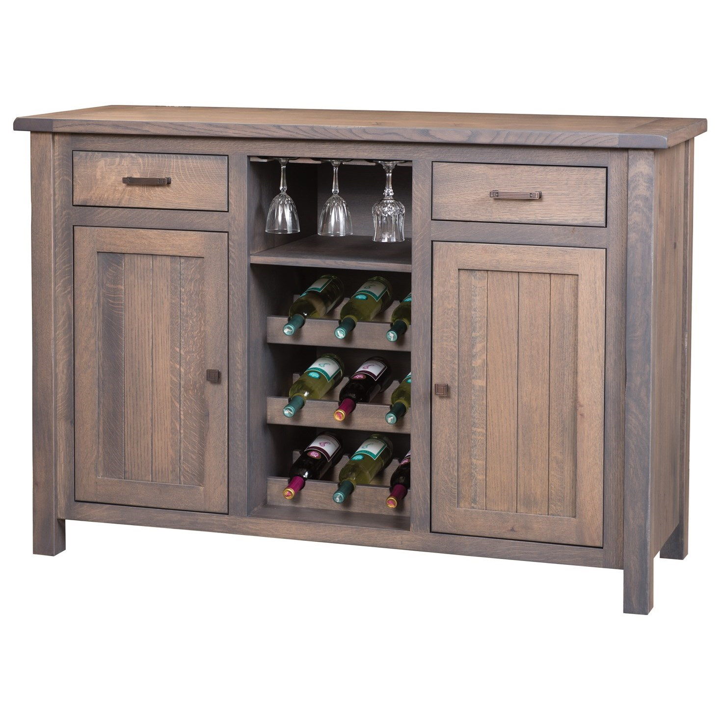 Adele Wine Cabinet by Meadow Lane Wood at Saugerties Furniture Mart