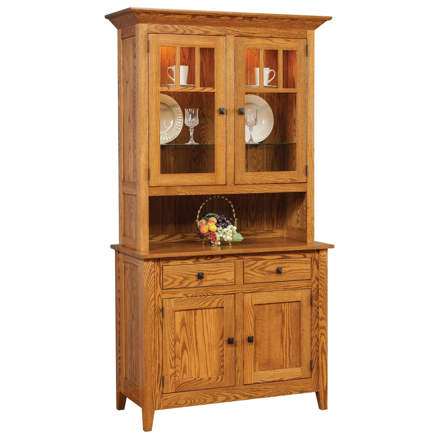 Canterbury Buffet with Hutch by Meadow Lane Wood at Saugerties Furniture Mart
