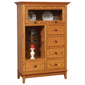 Transitional Cabinet with Open Display Space