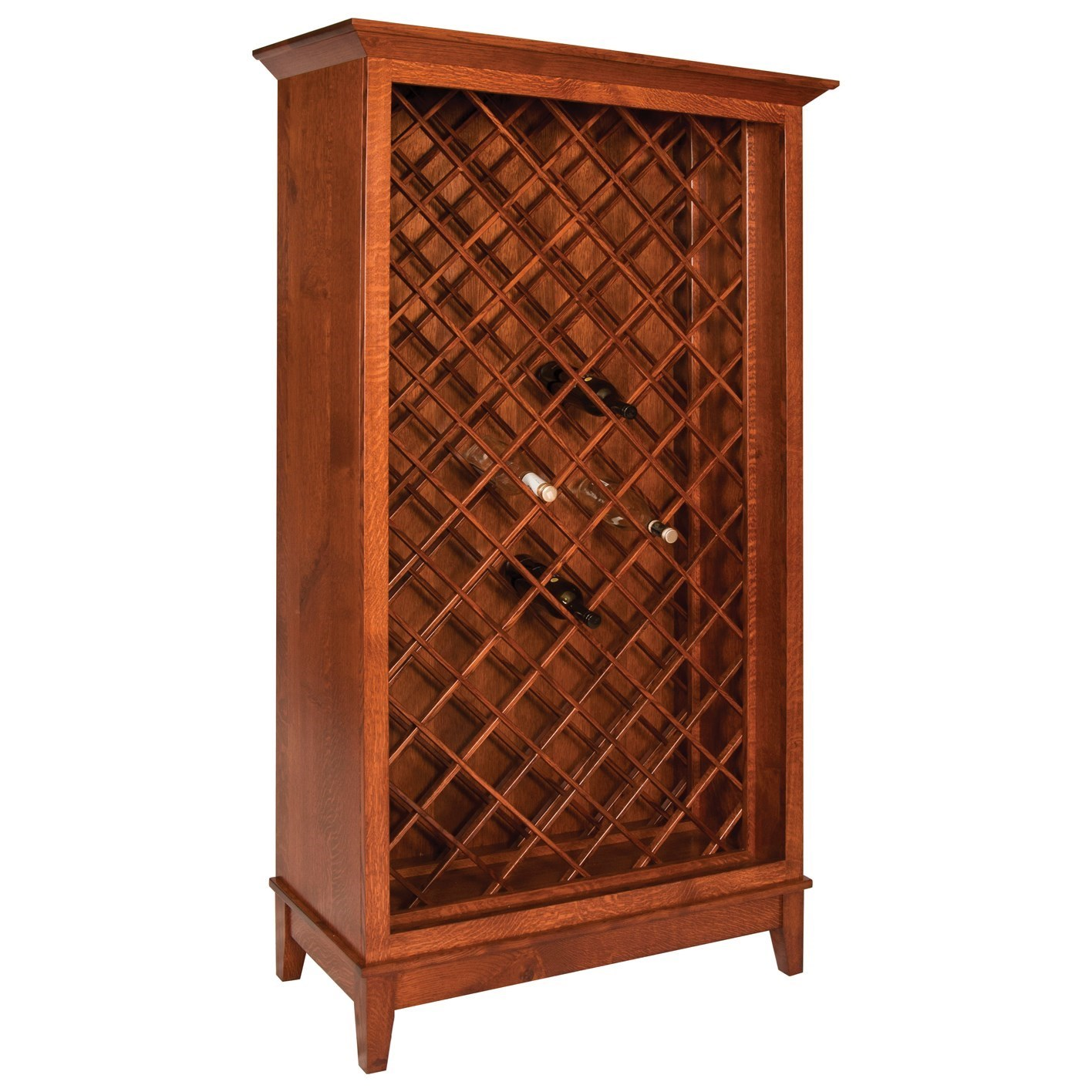 Canterbury Wine Cabinet by Meadow Lane Wood at Saugerties Furniture Mart