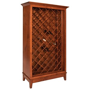 Transitional Wine Cabinet with Wine Bottle Storage