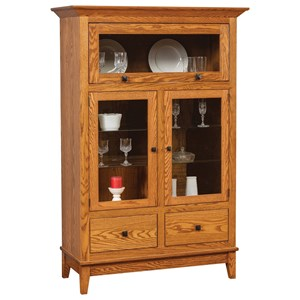 Transitional Cabinet with Glass Doors