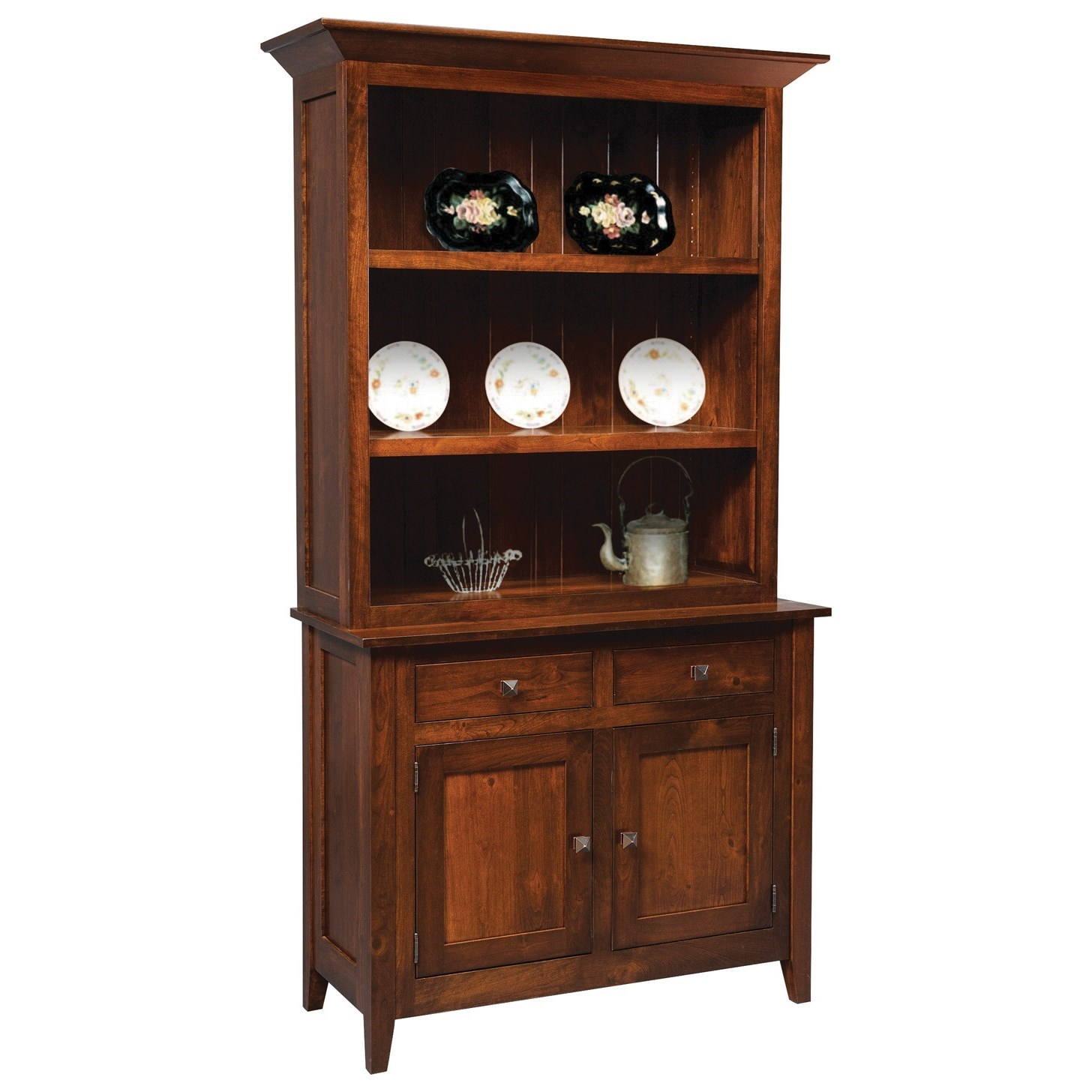 Settlers Ridge Buffet with Hutch by Meadow Lane Wood at Saugerties Furniture Mart