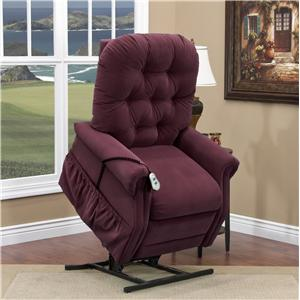 Casual 2-Way Lift Recliner with Tufted Back