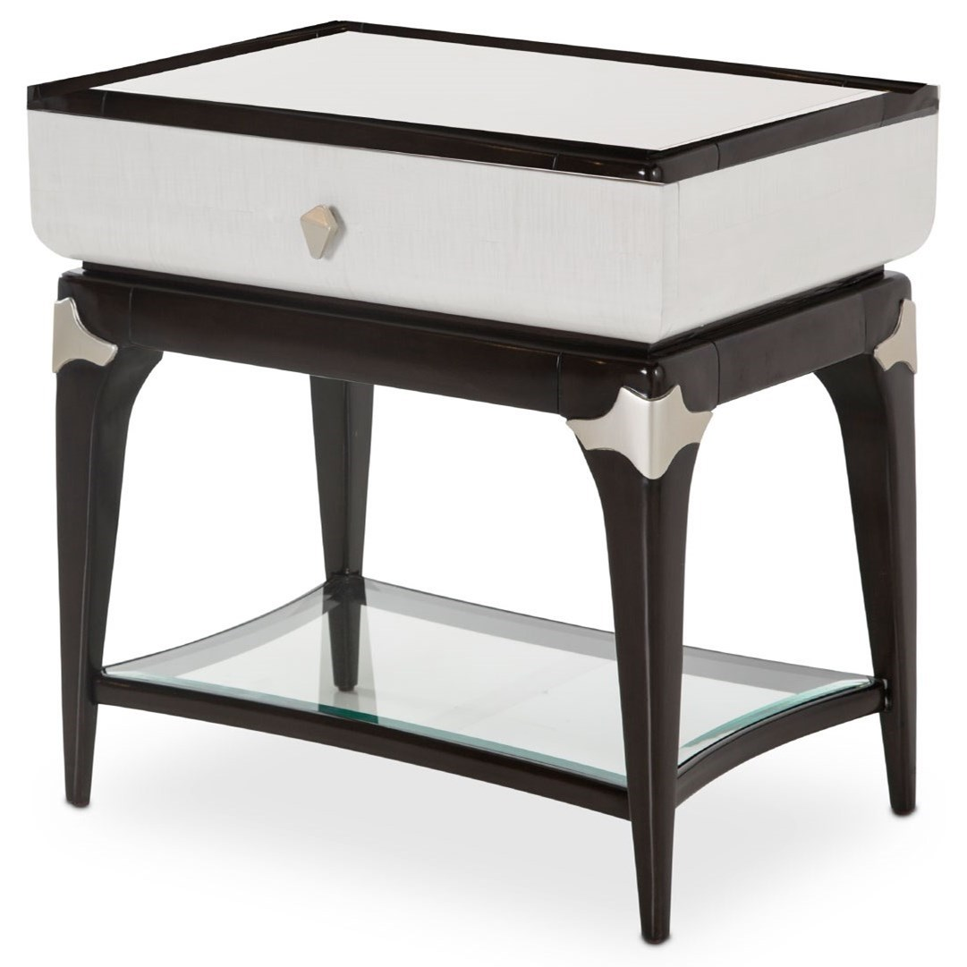 Paris Chic End Table by Michael Amini at Darvin Furniture