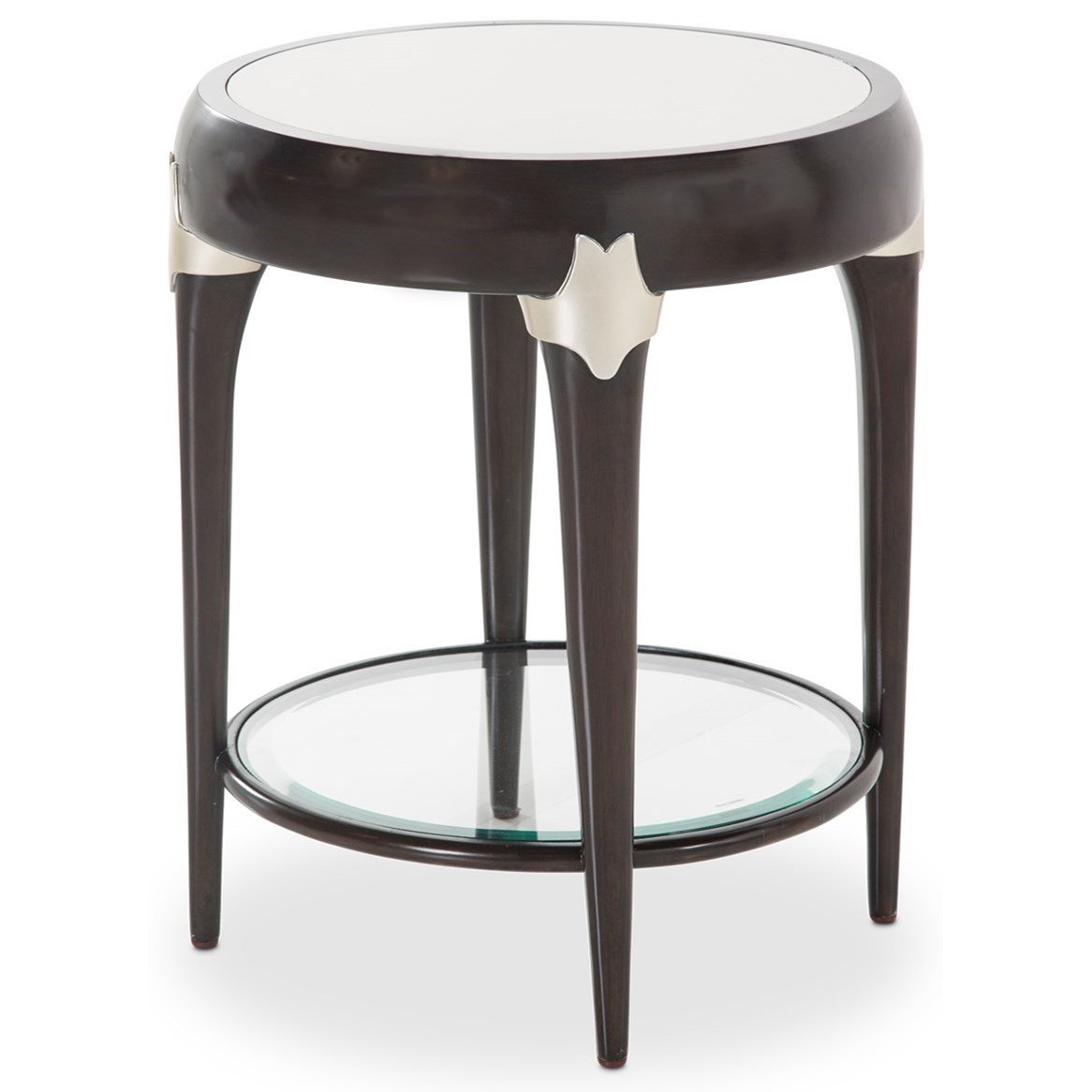 Paris Chic Round Accent Table by Michael Amini at Darvin Furniture