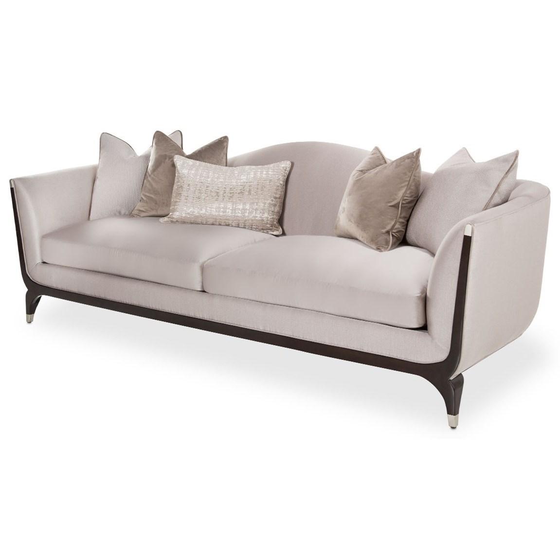 Paris Chic Sofa by Michael Amini at Darvin Furniture