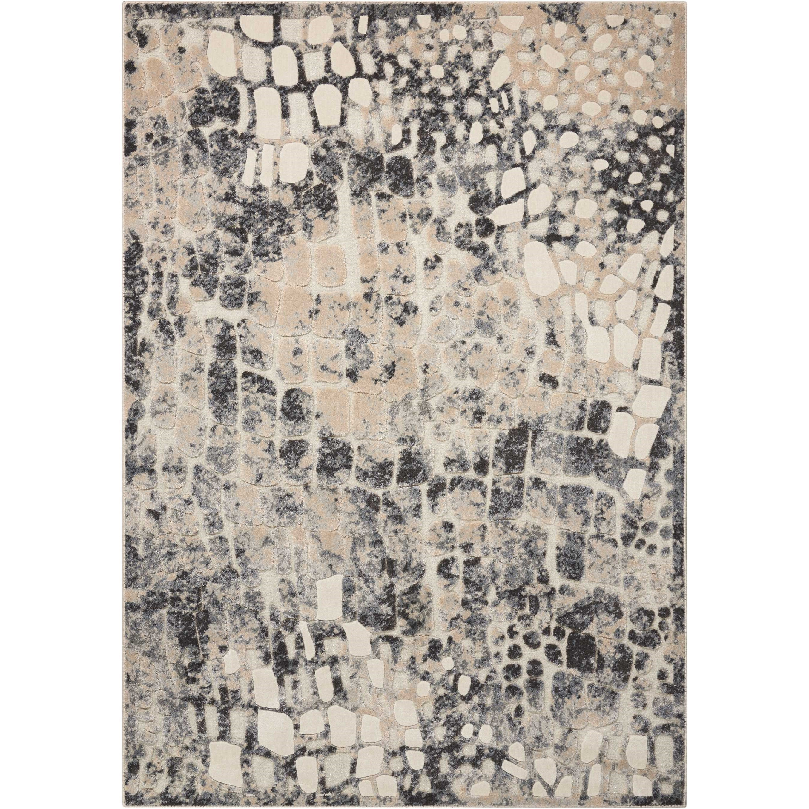"""Gleam 3'10"""" x 5'10"""" Rug by Michael Amini by Nourison at Home Collections Furniture"""