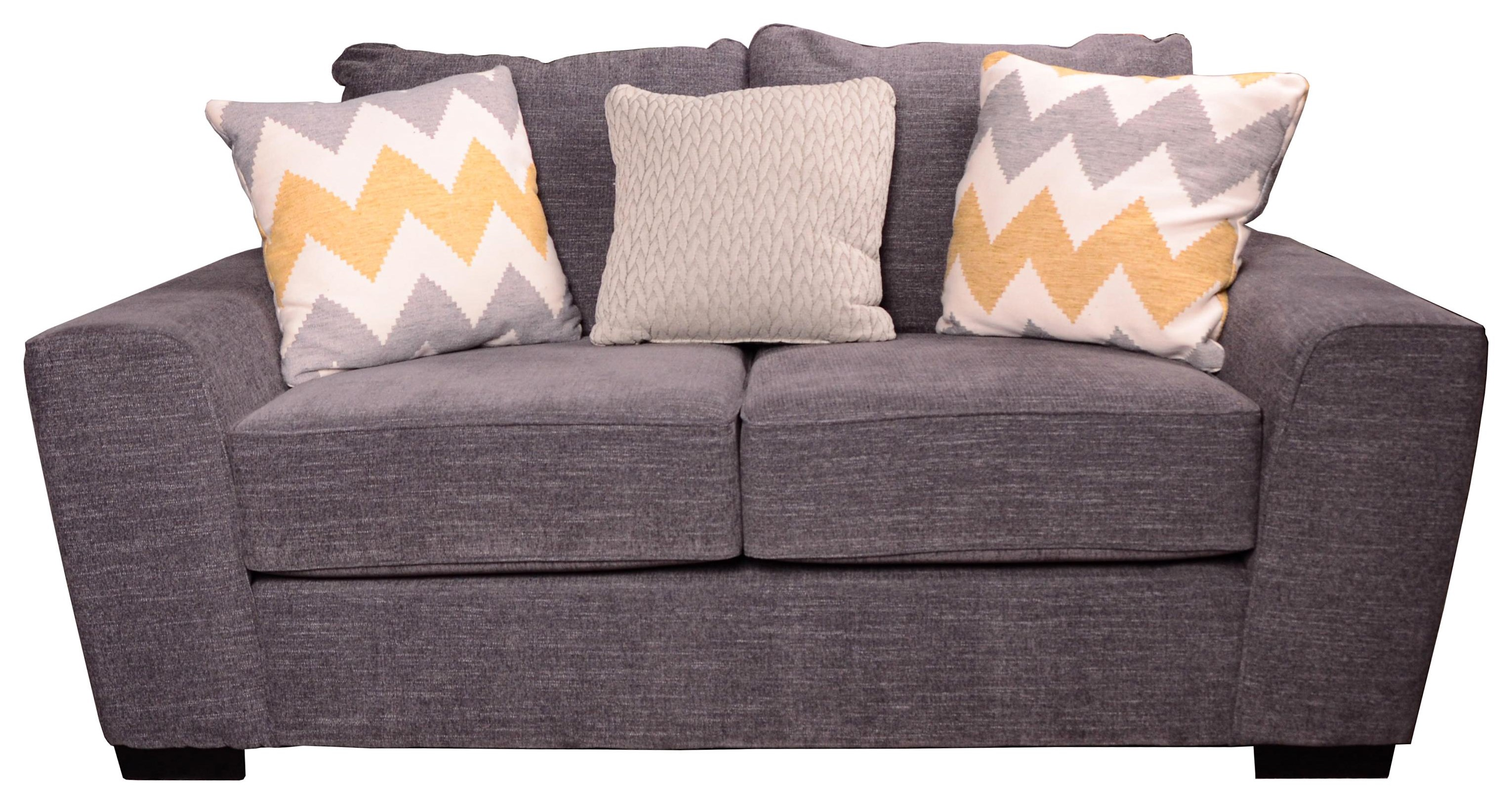 Desperado Curious Charcoal Loveseat by Michael Nicholas at Beck's Furniture