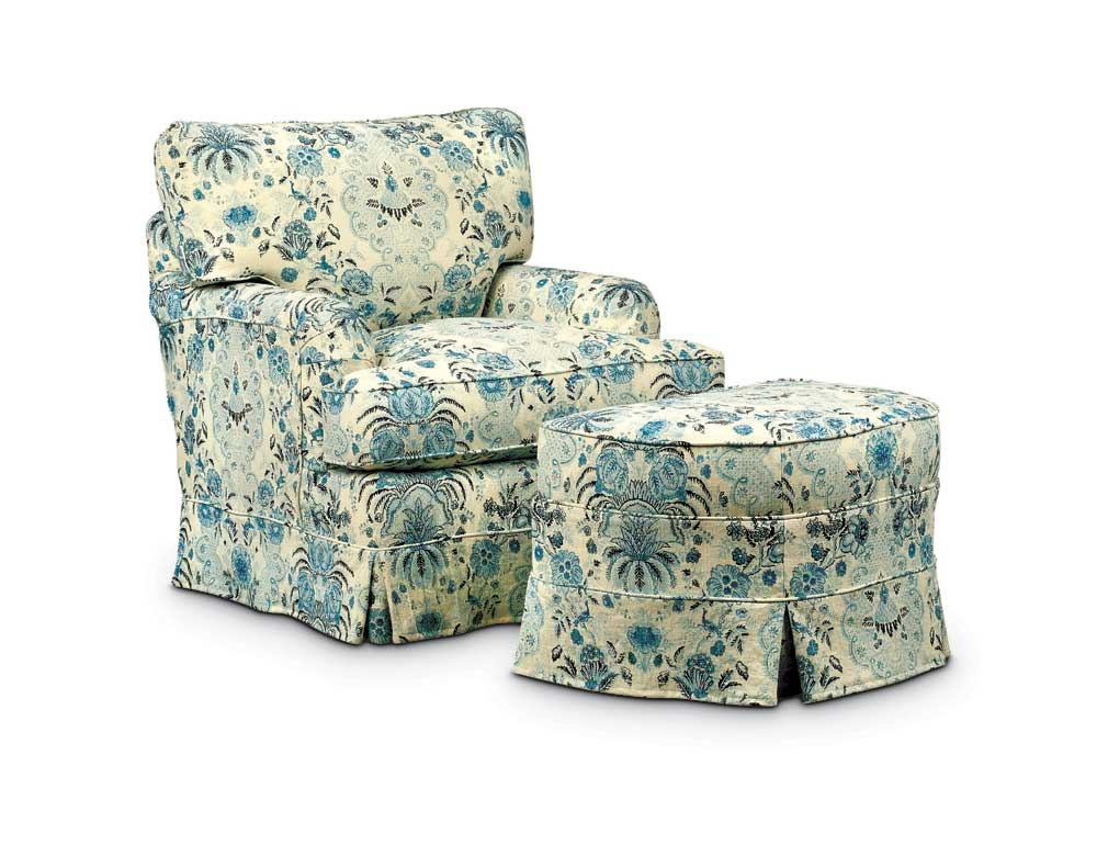 Washable Wonders Judy Chair and Ottoman by Miles Talbott at Malouf Furniture Co.