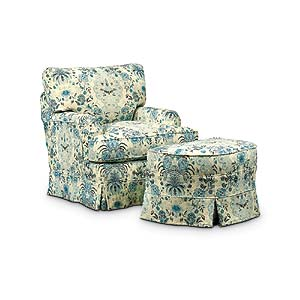 Miles Talbott Washable Wonders Judy Chair and Ottoman