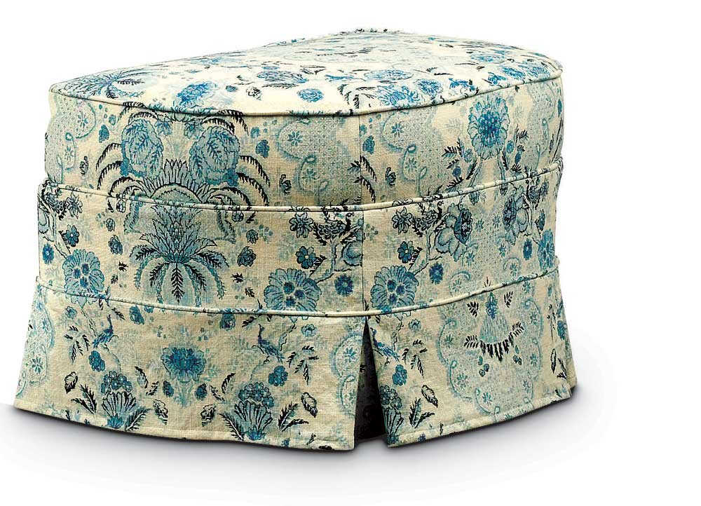 Washable Wonders Judy Ottoman by Miles Talbott at Malouf Furniture Co.