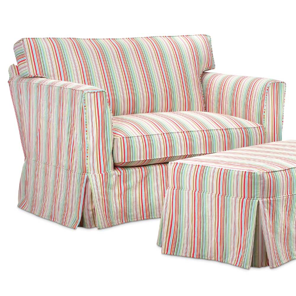 Washable Wonders Mary Slipcover Chair & a Half by Miles Talbott at Alison Craig Home Furnishings