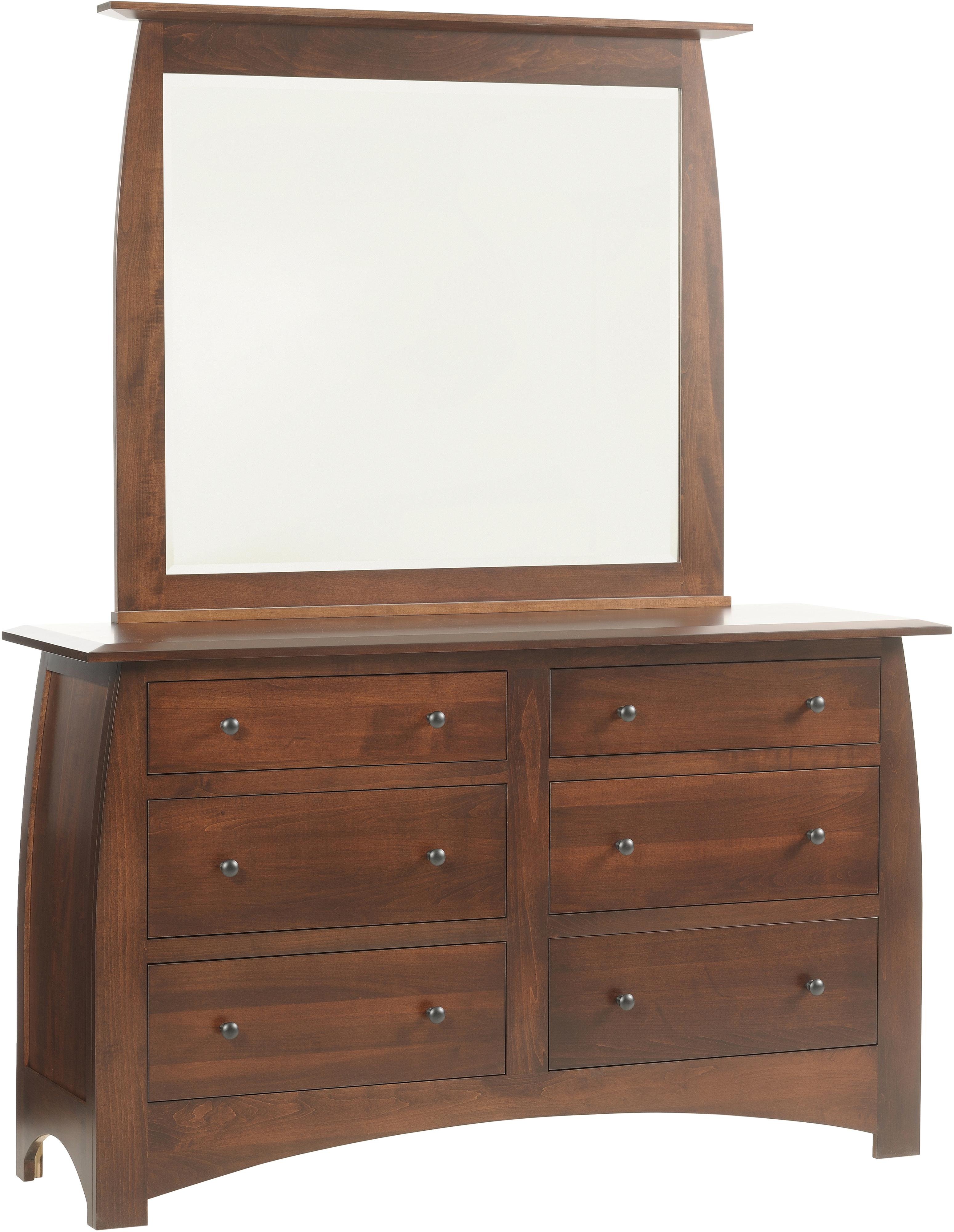 Bordeaux Dresser and Mirror by Millcraft at Saugerties Furniture Mart