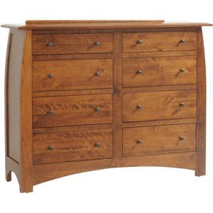 8-Drawer Tall Dresser