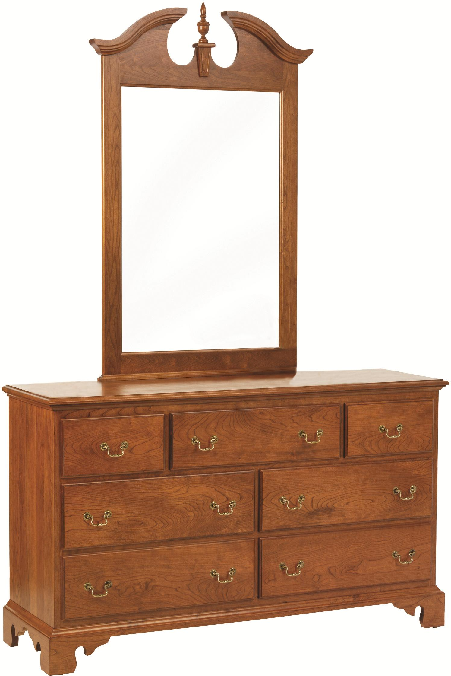 Elegant River Bend Dresser with Mirror by Millcraft at Saugerties Furniture Mart