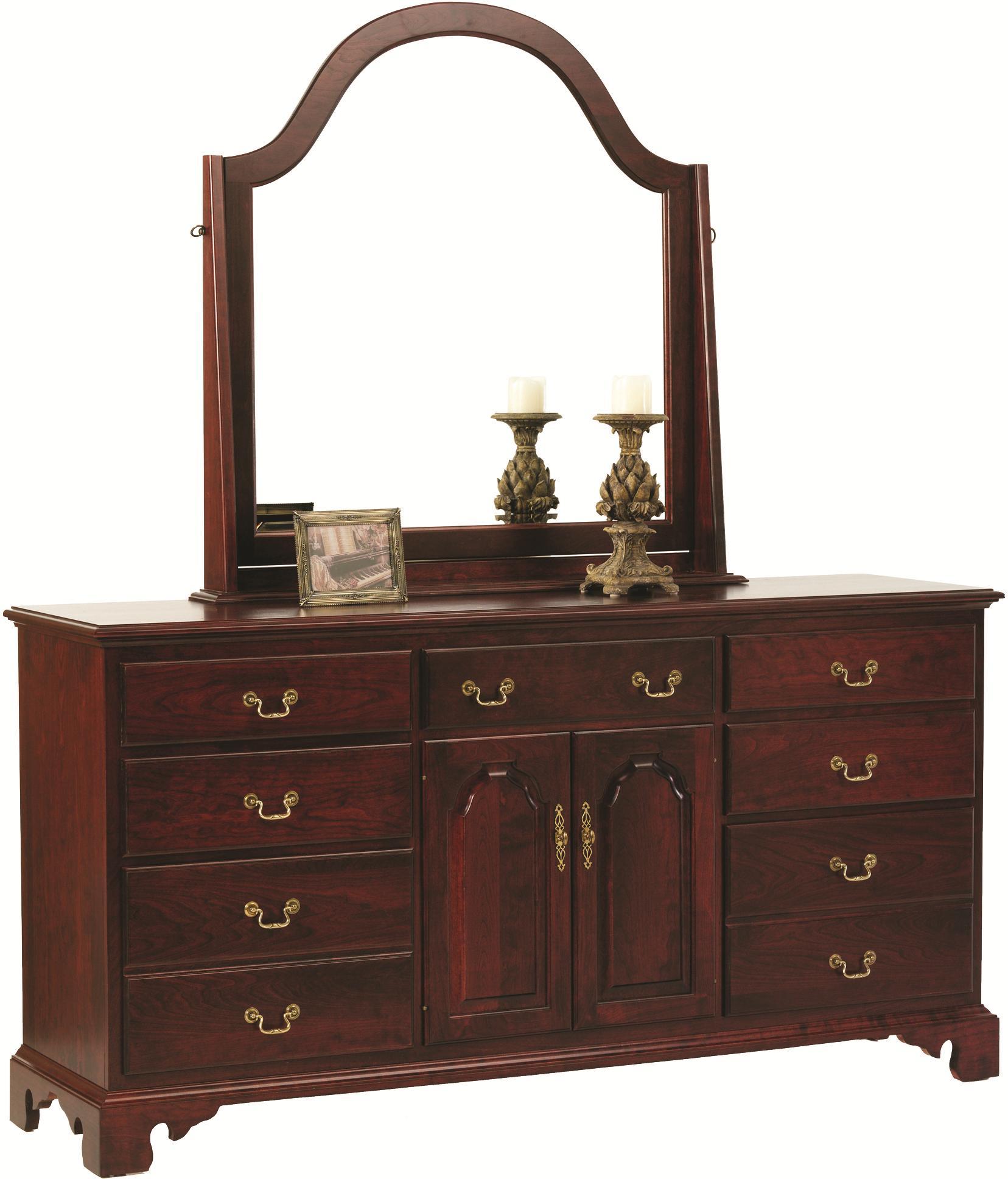 Elegant River Bend Dresser and Mirror by Millcraft at Saugerties Furniture Mart