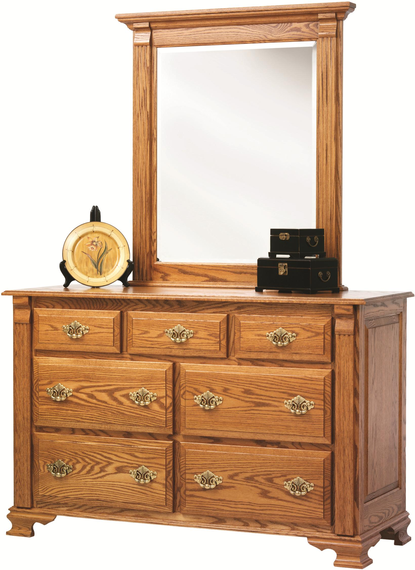 Journeys End Dresser + Mirror by Millcraft at Saugerties Furniture Mart