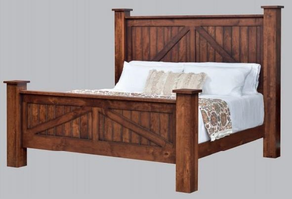 Mountain Lodge Queen Post Bed by Millcraft at Virginia Furniture Market