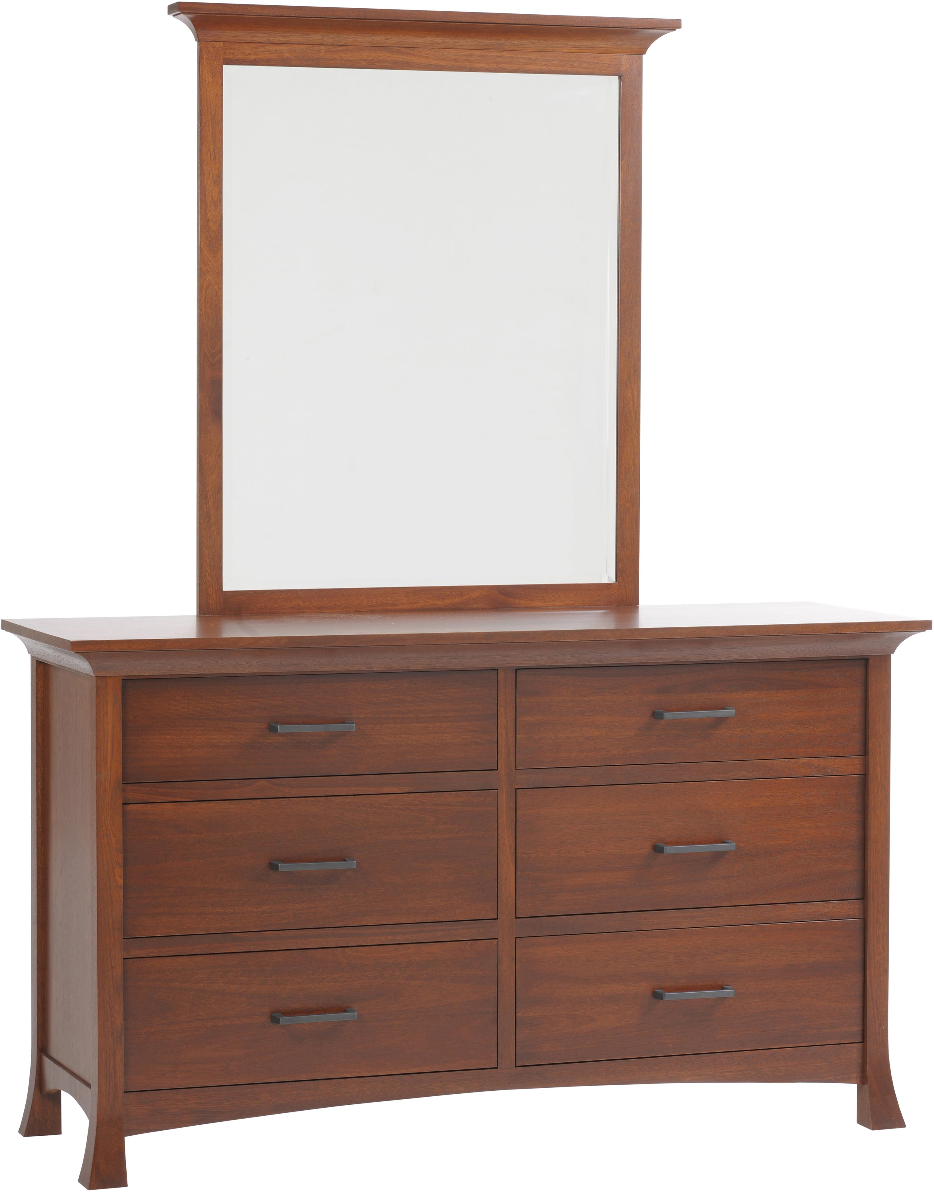 Oasis Low Dresser and Mirror by Millcraft at Saugerties Furniture Mart