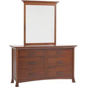 Low Dresser with 6 Drawers and Mirror