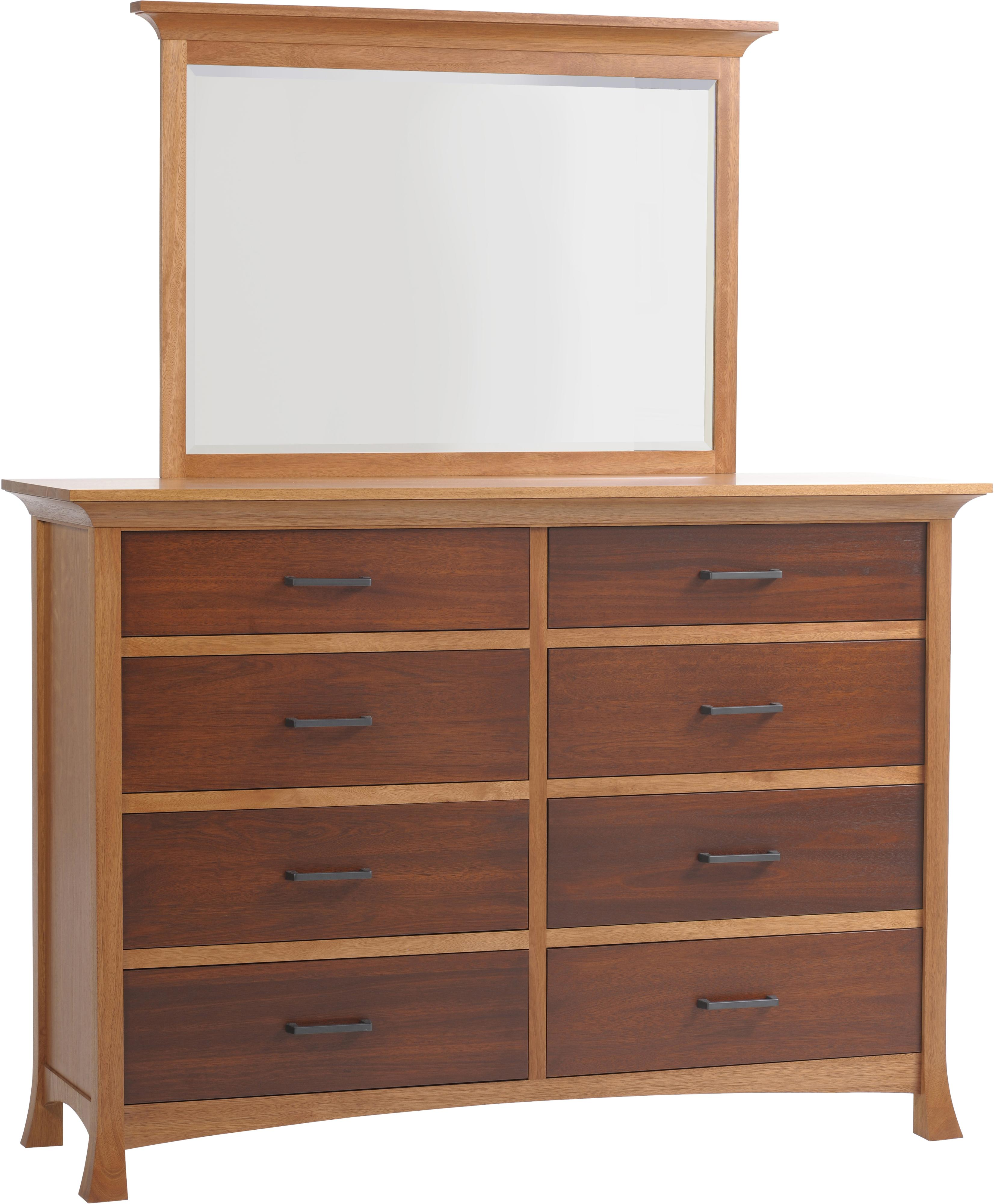 Oasis High Dresser and Mirror by Millcraft at Saugerties Furniture Mart