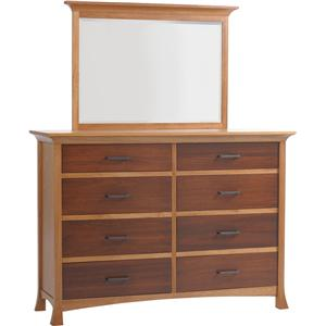 High Dresser with 8 Drawers and Mirror