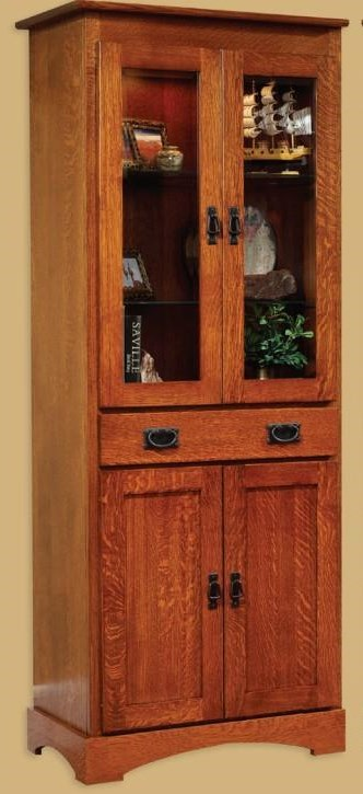 Old English Mission Bookcase by Millcraft at Virginia Furniture Market