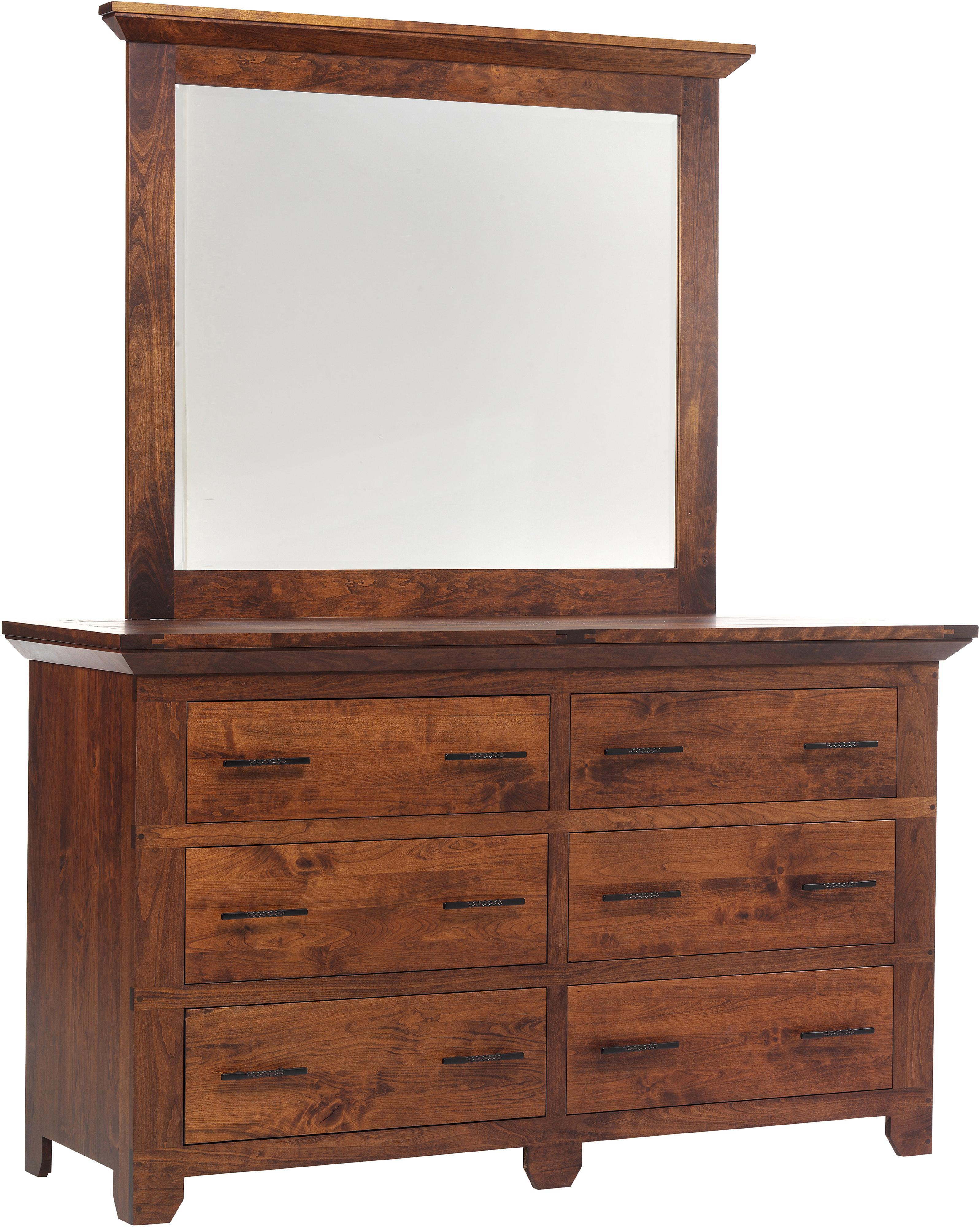 Redmond Wellington Dresser and Mirror Set by Millcraft at Saugerties Furniture Mart